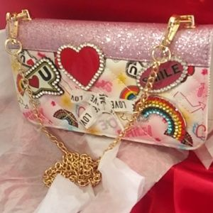 ALDO LOVE SMILE Rainbow Crystal Camera Bag